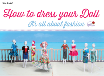 KSIĄŻKA DO NAUKI SZYCIA - DRESS YOUR DOLL